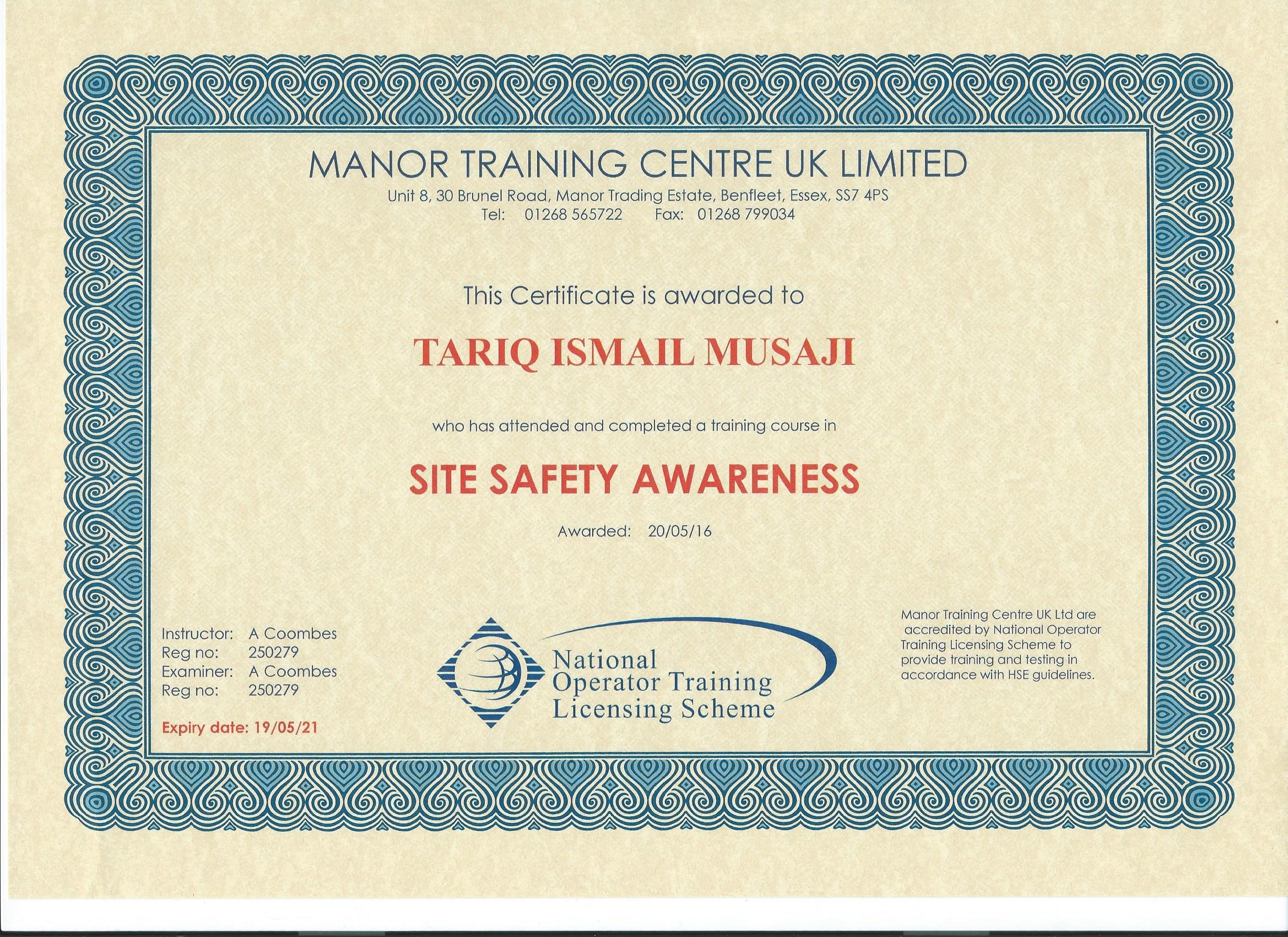 DSA Certificate